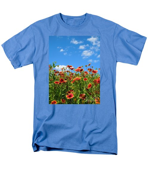 Men's T-Shirt  (Regular Fit) featuring the photograph Wild Red Daisies #5 by Robert ONeil
