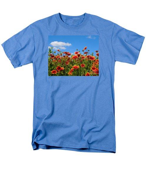 Men's T-Shirt  (Regular Fit) featuring the photograph Wild Red Daisies #7 by Robert ONeil