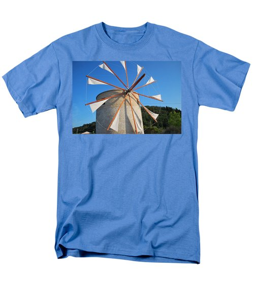 Windmill  2 Men's T-Shirt  (Regular Fit) by George Katechis