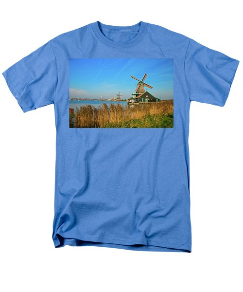 Windmills On De Zaan Men's T-Shirt  (Regular Fit) by Jonah  Anderson