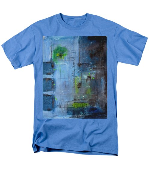 Men's T-Shirt  (Regular Fit) featuring the painting Winter 2 by Nicole Nadeau