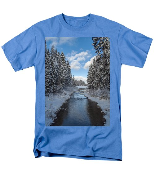 Winter Creek Men's T-Shirt  (Regular Fit) by Fran Riley