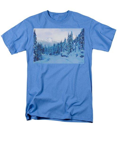 Winter Road Men's T-Shirt  (Regular Fit) by Sophia Schmierer