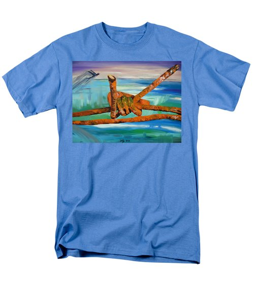 Men's T-Shirt  (Regular Fit) featuring the painting Wire by Daniel Janda