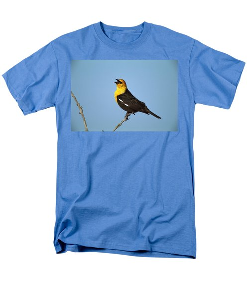 Yellow-headed Blackbird Singing Men's T-Shirt  (Regular Fit) by Tom Vezo