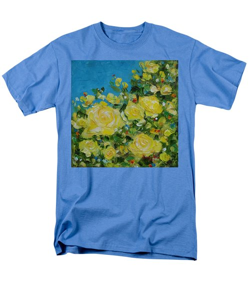 Men's T-Shirt  (Regular Fit) featuring the painting Yellow Roses by Judith Rhue
