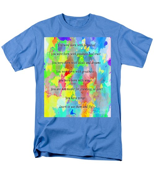 You Have Wings Men's T-Shirt  (Regular Fit) by Barbara Griffin