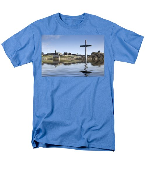 Cross In Water, Bewick, England Men's T-Shirt  (Regular Fit) by John Short