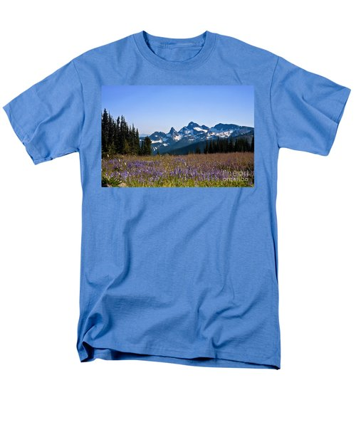 Wildflowers In The Cascades Men's T-Shirt  (Regular Fit) by Ronald Lutz