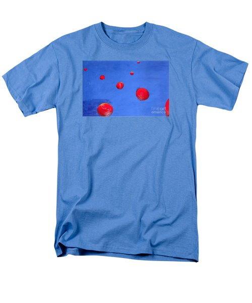 Men's T-Shirt  (Regular Fit) featuring the painting Orbs In Space 1 -- Crossing Paths by Rod Ismay
