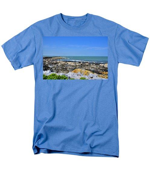 A Blue Skerries Sky Men's T-Shirt  (Regular Fit) by Martina Fagan