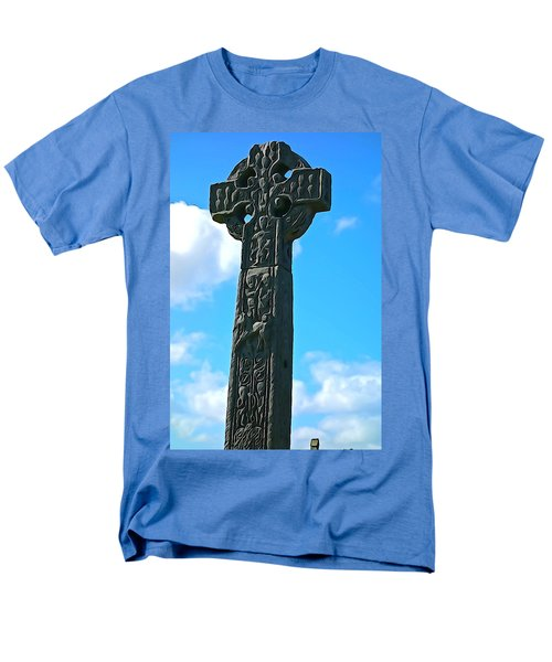 Men's T-Shirt  (Regular Fit) featuring the photograph Celtic Cross by Charlie and Norma Brock