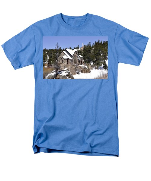 Chapel On The Rocks No. 3 Men's T-Shirt  (Regular Fit) by Dorrene BrownButterfield