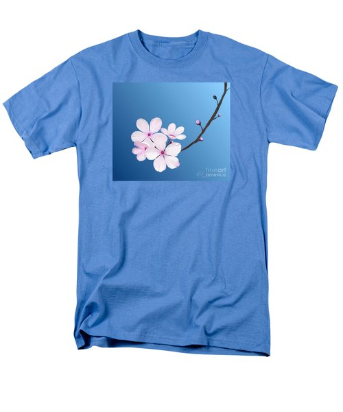 Men's T-Shirt  (Regular Fit) featuring the painting Cherry Blossoms by Rand Herron