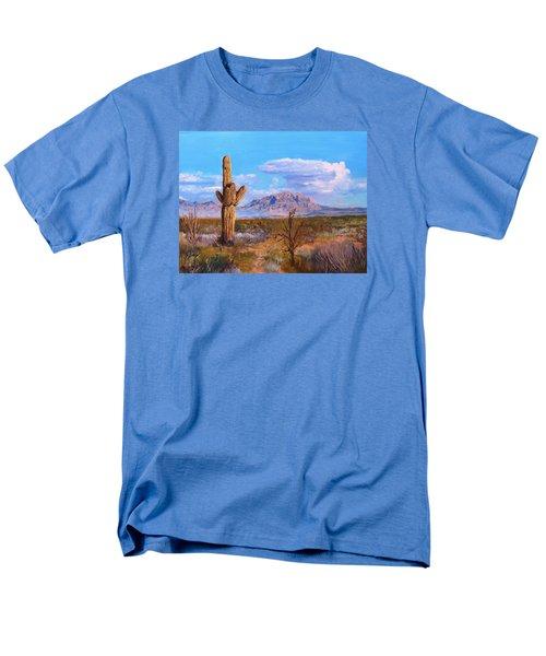 Men's T-Shirt  (Regular Fit) featuring the painting Desert Scene 4 by M Diane Bonaparte