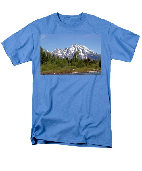 Men's T-Shirt  (Regular Fit) featuring the photograph Driftwood And The Grand Tetons by Living Color Photography Lorraine Lynch