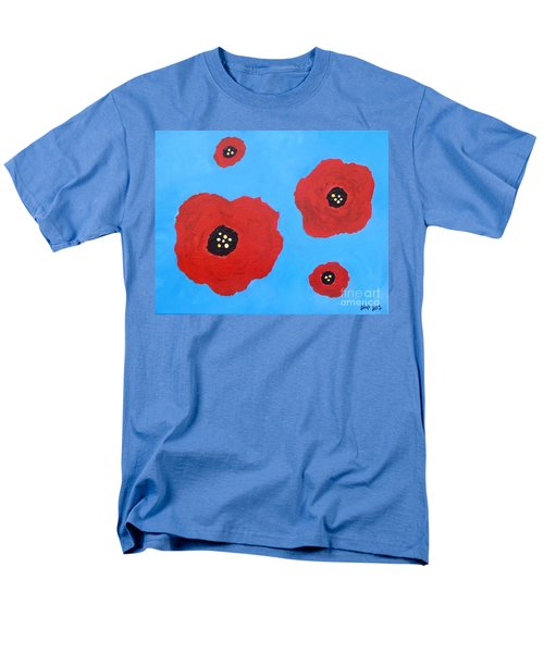Men's T-Shirt  (Regular Fit) featuring the painting Floating Flowers by Alys Caviness-Gober