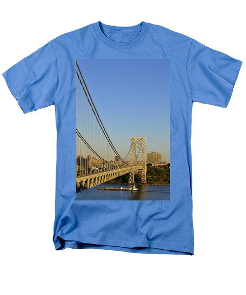 George Washington Bridge And Boat Men's T-Shirt  (Regular Fit) by Zawhaus Photography