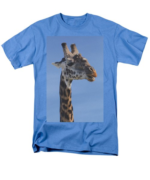 Giraffe Headshot Men's T-Shirt  (Regular Fit) by Tom Wurl