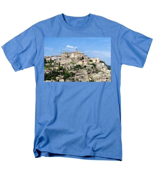 Men's T-Shirt  (Regular Fit) featuring the photograph Gordes In Provence by Carla Parris