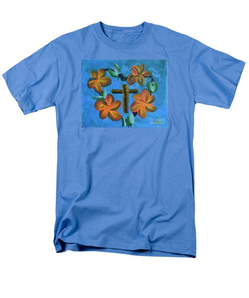 Men's T-Shirt  (Regular Fit) featuring the painting His Love For Us by Donna Brown