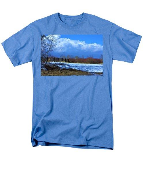 Men's T-Shirt  (Regular Fit) featuring the photograph Landscape  Snow Scene by Johanna Bruwer