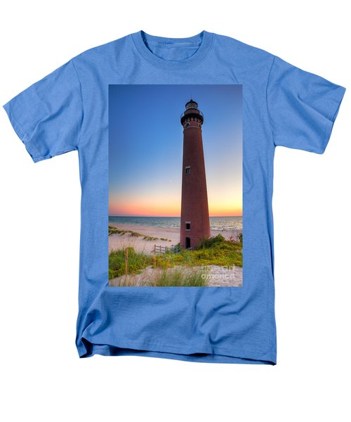 Men's T-Shirt  (Regular Fit) featuring the photograph Little Sable Point Light Station by Larry Carr