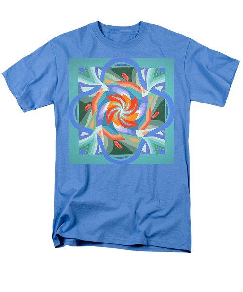 Men's T-Shirt  (Regular Fit) featuring the painting Mandala by Rachel Hames