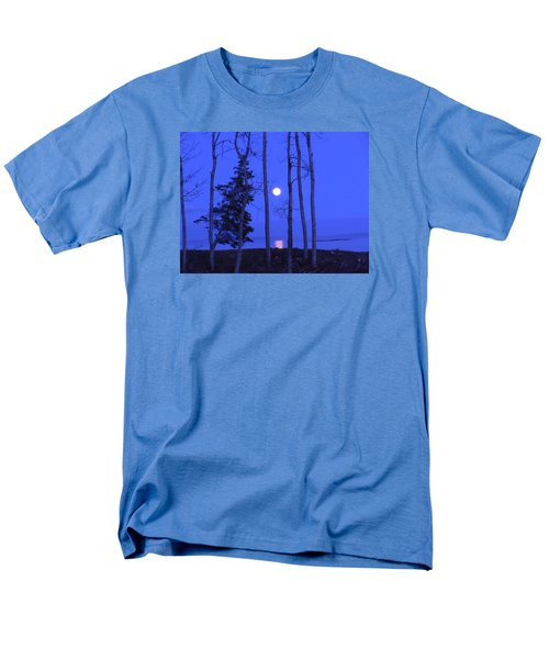 May Moon Through Birches Men's T-Shirt  (Regular Fit)