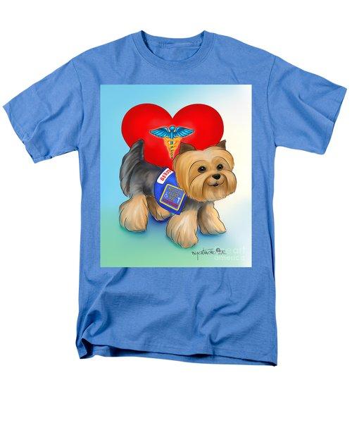 Medical Alert Yorkie Men's T-Shirt  (Regular Fit) by Catia Cho