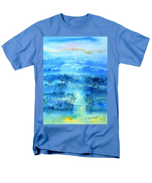 Men's T-Shirt  (Regular Fit) featuring the painting Misty Morning  Ireland  by Trudi Doyle