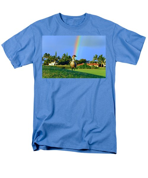 Men's T-Shirt  (Regular Fit) featuring the photograph Nene At The End Of The Rainbow by Lynn Bauer