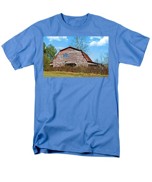Patriotic Barn Men's T-Shirt  (Regular Fit) by Susan Leggett