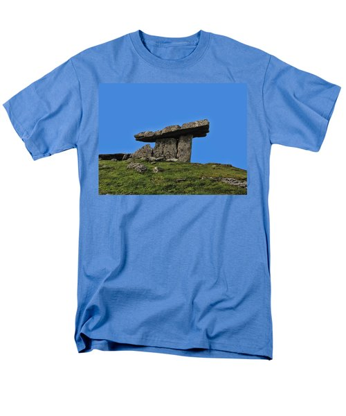 Men's T-Shirt  (Regular Fit) featuring the photograph Poulnabrone Dolmen by David Gleeson