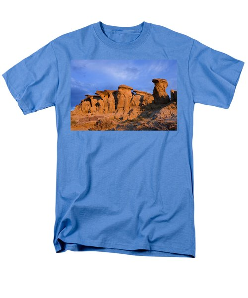 Red Rock Sunset Men's T-Shirt  (Regular Fit) by Rich Franco