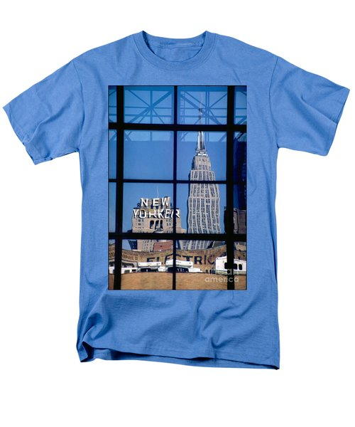 Reflection Empire State Building Men's T-Shirt  (Regular Fit) by Mark Gilman