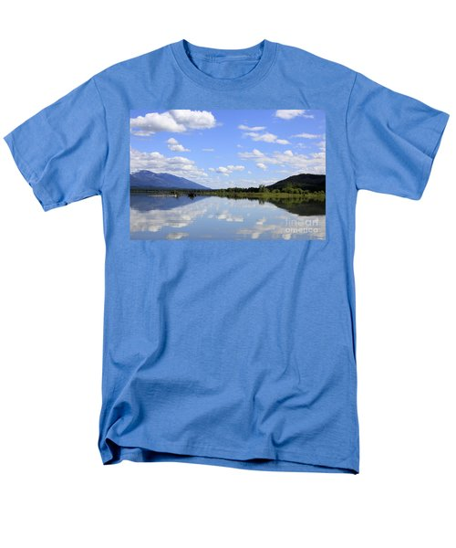 Men's T-Shirt  (Regular Fit) featuring the photograph Reflections On Swan Lake by Nina Prommer