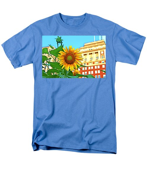 Men's T-Shirt  (Regular Fit) featuring the photograph Sunflower In The City by Alice Gipson