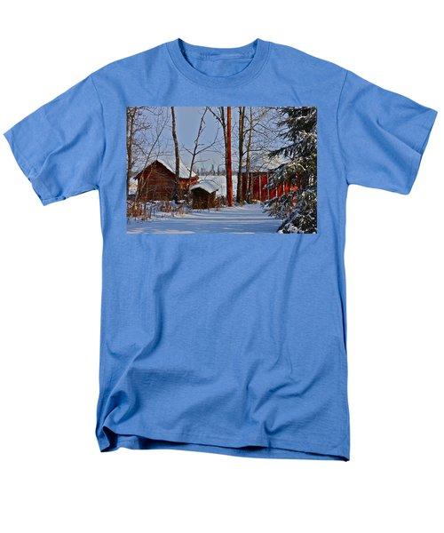 Three Little Houses Men's T-Shirt  (Regular Fit) by Johanna Bruwer