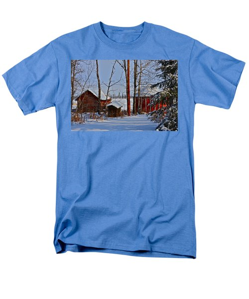 Men's T-Shirt  (Regular Fit) featuring the photograph Three Little Houses by Johanna Bruwer