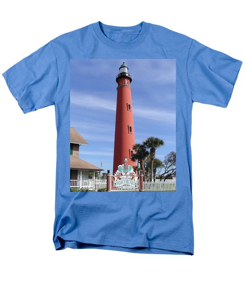 Towering Lighthouse Men's T-Shirt  (Regular Fit) by Barbara Middleton