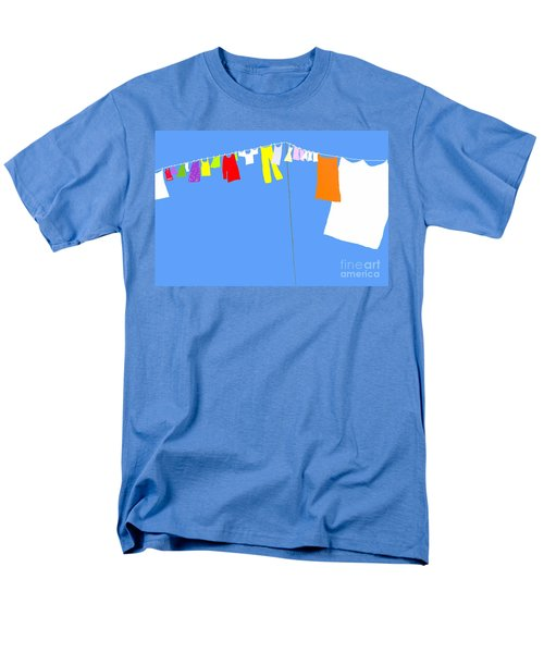 Men's T-Shirt  (Regular Fit) featuring the digital art Washing Line Simplified Edition by Barbara Moignard