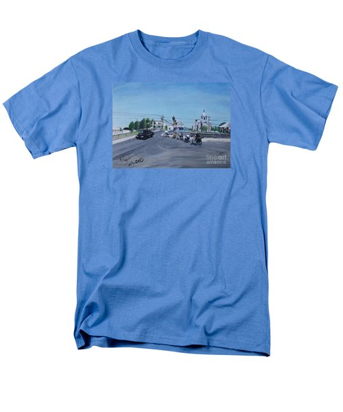 Family Cycling Tour Men's T-Shirt  (Regular Fit) by Francine Heykoop