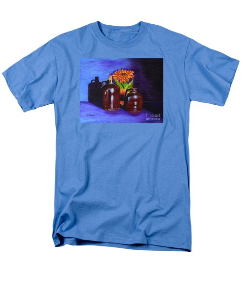 Men's T-Shirt  (Regular Fit) featuring the painting 2 Old Jugs by Melvin Turner