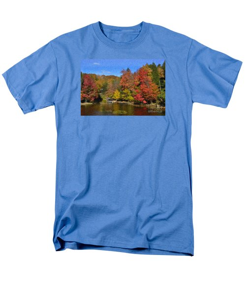 Men's T-Shirt  (Regular Fit) featuring the painting A Little Piece Of Adirondack Heaven by Diane E Berry