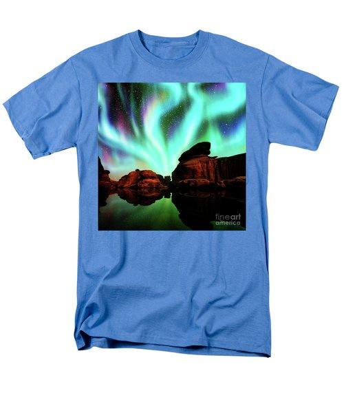 Aurora Over Lagoon Men's T-Shirt  (Regular Fit) by Atiketta Sangasaeng