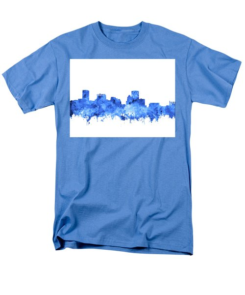Men's T-Shirt  (Regular Fit) featuring the painting Baltimore Skyline Watercolor 7 by Bekim Art
