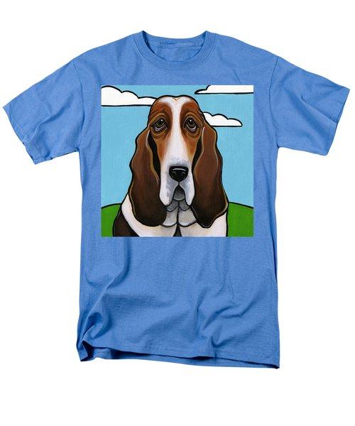 Basset Hound Men's T-Shirt  (Regular Fit) by Leanne Wilkes