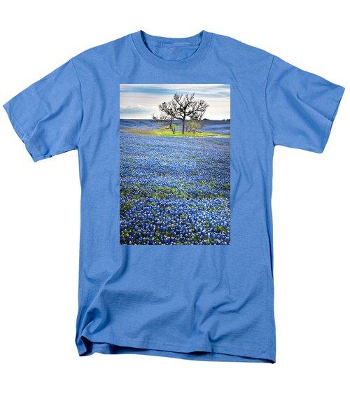 Bluebonnet Field Men's T-Shirt  (Regular Fit) by David and Carol Kelly