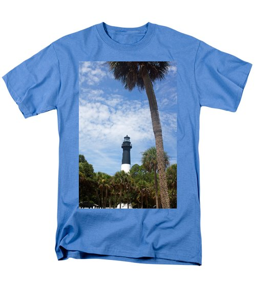 Men's T-Shirt  (Regular Fit) featuring the photograph Hunting Island Lighthouse by Ellen Tully